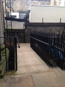 Faculty of Advocates Cast Iron Railings on new ramp